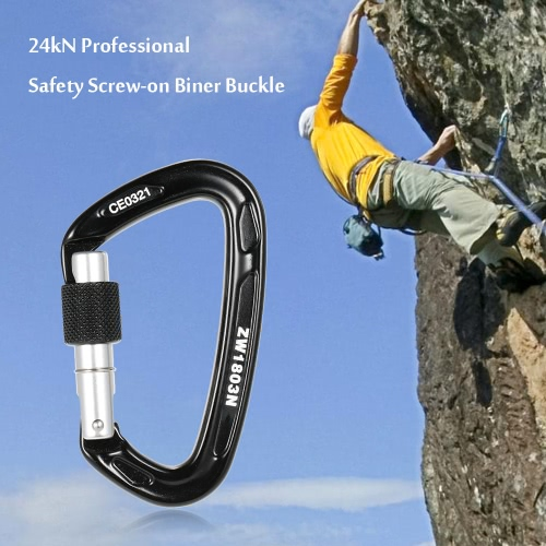 24kN Professional Safety Screw-on Biner Buckle Aluminum Alloy Carabiner for Outdoor Survival Mountaineering Rock Climbing Caving Rappelling Rescue EngineeringOutdoor Tools<br>24kN Professional Safety Screw-on Biner Buckle Aluminum Alloy Carabiner for Outdoor Survival Mountaineering Rock Climbing Caving Rappelling Rescue Engineering<br><br>Blade Length: 10.0cm