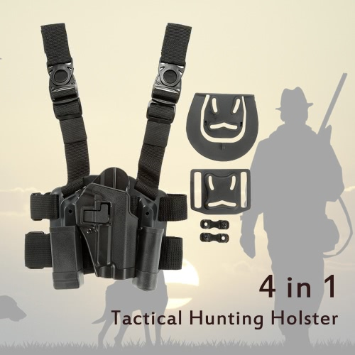 4 in 1 Tactical Hunting Quick Release Drop Leg Thigh Rig Holster Platform with 2 Pouches for P226Others<br>4 in 1 Tactical Hunting Quick Release Drop Leg Thigh Rig Holster Platform with 2 Pouches for P226<br><br>Blade Length: 37.0cm