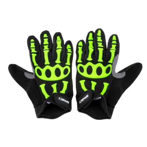 Spakct Men's Non-slip Full Finger Cycling Gloves Breathable Shockproof Y1706GR-XXL
