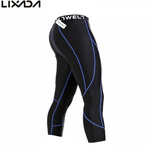 Lixada men quick drying breathable sports tights compression base under layer pants...