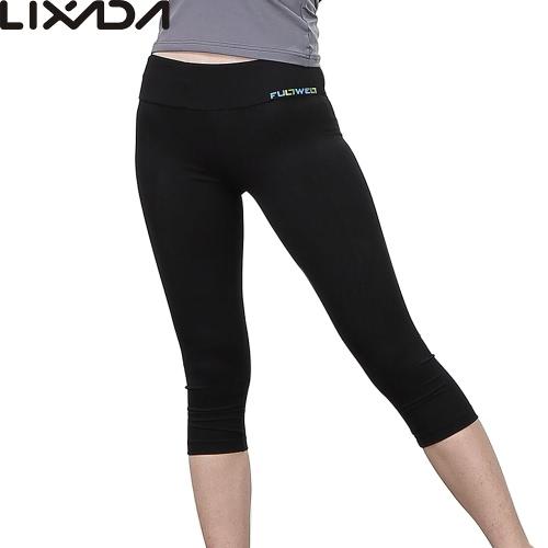 Lixada women tight yoga pants soft quick-dry capri pants sports leggings for...