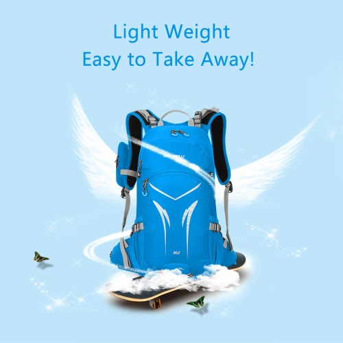 Buy Weather-resistant Shoulder Backpack Outdoor Cycling Bike Riding Mountain Bicycle Travel Hiking Camping Running Water-repellent Bag Pack 20L