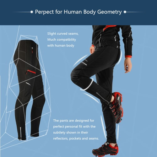 Buy u200bROCKBROS Breathable Mountain Bike Men Women Thermal Cycling Pants Sportswear MTB Fleece Trousers Casual Riding Clothing Long