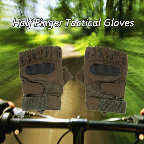 Hard Knuckle Tactical Gloves Half Finger Sport Shooting Paintball Hunting Riding Motorcycle