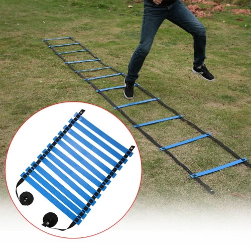 TOMSHOO 11 Rung Flat Adjustable Speed Agility Ladder Sports Speed Training Exercise Ladder with Free Carry BagPhysical Fitness<br>TOMSHOO 11 Rung Flat Adjustable Speed Agility Ladder Sports Speed Training Exercise Ladder with Free Carry Bag<br><br>Blade Length: 51.0cm