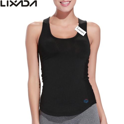 Lixada women sleeveless racerback sports shirt for yoga running gym fashionable yoga...
