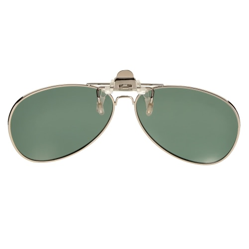Polarized Clip On Sunglasses Lens Driving Traveling Fishing UV400 Metal Frame Y2032DGR
