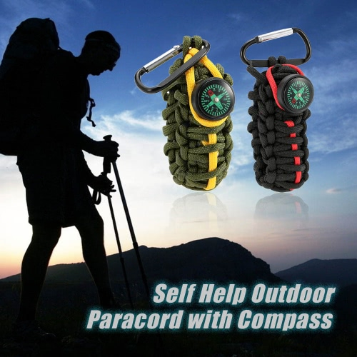 Paracord for Emergency with Compass Self Help Outdoor Camping Hiking Emergency ToolEmergency &amp;Survival Tools<br>Paracord for Emergency with Compass Self Help Outdoor Camping Hiking Emergency Tool<br><br>Blade Length: 8.0cm