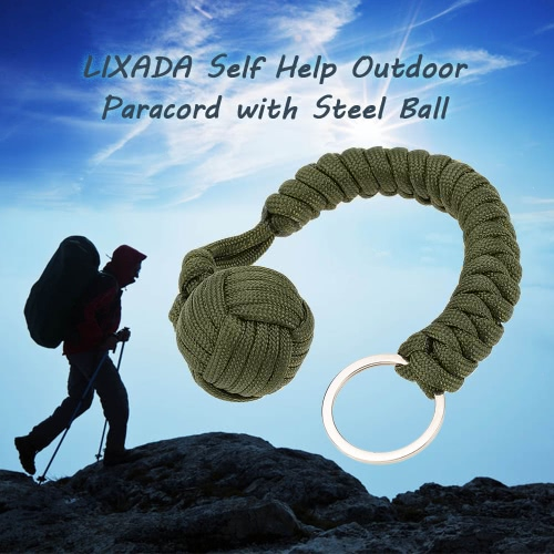 Lixada Paracord for Emergency Key Ring Survival Kits Self Help Outdoor Camping Hiking ToolEmergency &amp;Survival Tools<br>Lixada Paracord for Emergency Key Ring Survival Kits Self Help Outdoor Camping Hiking Tool<br><br>Blade Length: 11.0cm