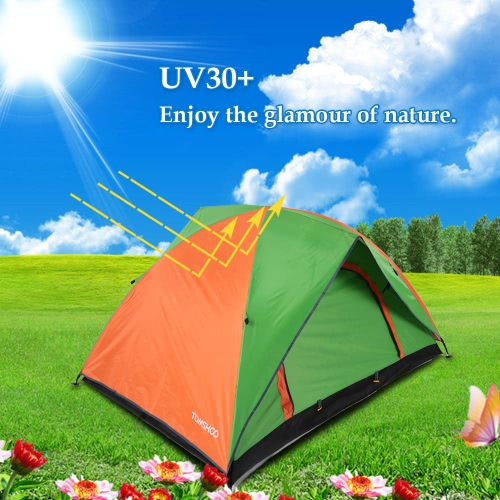 TOMSHOO Double Layer Double Door Camping Tent