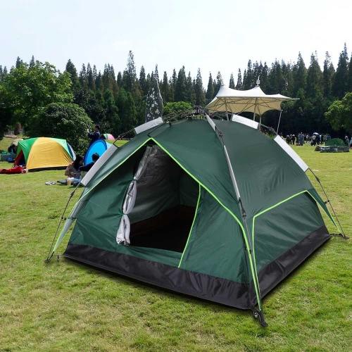 docooler Automatic Tent Water-resistant Two-layer Double Door