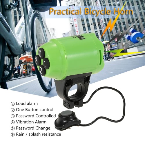 Lightweight Bicycle Horn Loud Electric Siren Alarm Cycling Bike Alarm Computer Electronic Horn Y2855GR