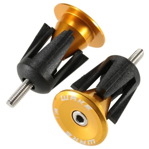 1 Pair Bicycle Bike Aluminum Handlebar Grip End Plug Handle Bar End Caps Handle Grip End Stoppers Y3213GR