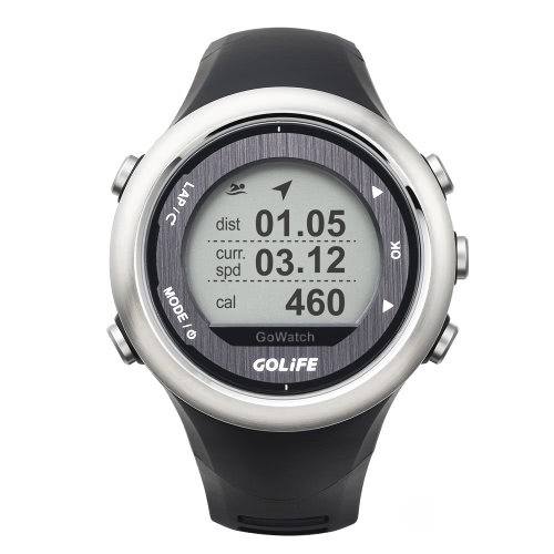 GOLiFE GoWatch 820i Outdoor GPS Smart Sports Watch Rechargeable Running Cycling Swimming Hiking Triathlon 5ATM Water Resistant Y2195S