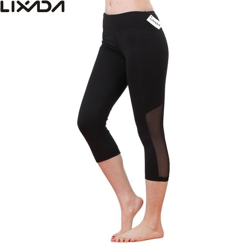 Lixada women tight yoga pants stretchy quick drying capri pants sports leggings...
