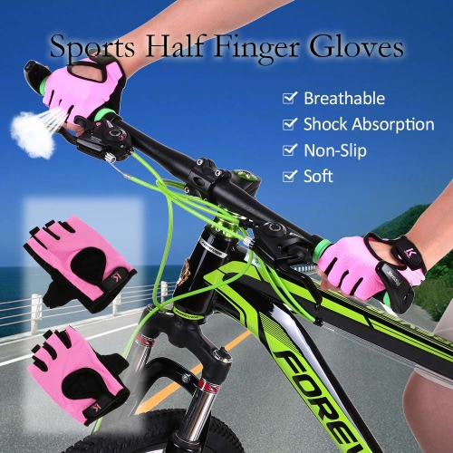 Sports Half Finger Gloves Racing Riding Road Bike Motor Cycling Bicycle Gloves Y2844P-S