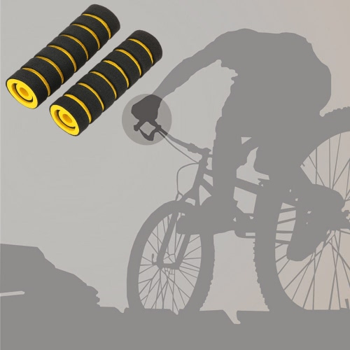 2 pcs Soft Anti-slip Handlebar Grips Bike Bicycle Sponge Handlebar Grips with Two Small Brake Bar Grips от Tomtop.com INT