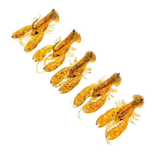 Lixada 5Pcs/Set 5cm Fishing Lures 3D Eyes Lifelike Fishing Lure Bait Soft Artificial Lures Fishing Tackle 5cm/4.5g with Hook