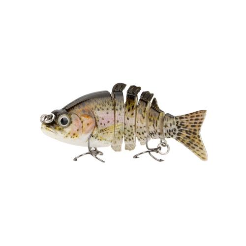 85mm 11g 3.3 6-segement Multi Jointed Fishing Life-like Hard Lure Minnow Swimbait Bait 2 Treble VMC HooksFishing Lures<br>85mm 11g 3.3 6-segement Multi Jointed Fishing Life-like Hard Lure Minnow Swimbait Bait 2 Treble VMC Hooks<br><br>Blade Length: 16.0cm