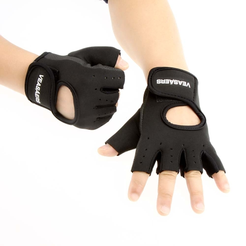 Men & Women Sport Fitness Cycling Gym Half Finger Weightlifting Gloves Exercise Training Gloves Y0364B-L