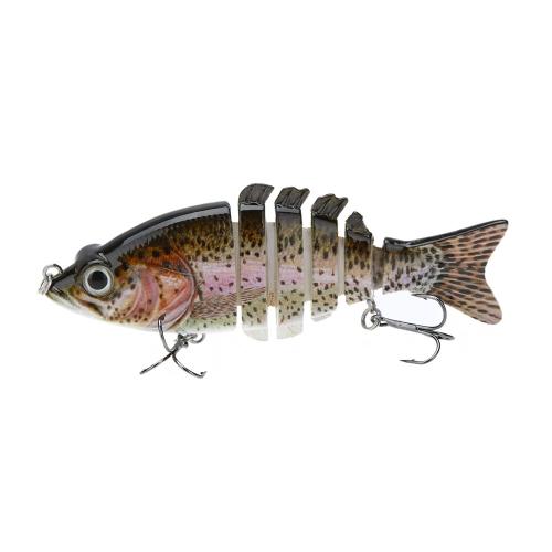 """LIXADA 10cm / 4"""""""" 21g Multi Jointed Fishing Hard Lure Bait Swimbait Life-like with Treble Hooks"""" Y0565-4"""
