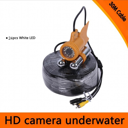 20M / 30M Cable Underwater Fishing Video 600TVL SONY CCD Fishing Camera 24pcs White LEDs Nightvision Waterproof Fish Finder Y0597-30