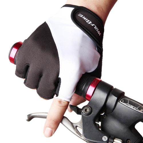 WOLFBIKE Non-slip Shock-absorbing Silicone GEL Road MTB Motorcycle Cycling Bike Bicycle Racing Riding Breathable Half Finger Gloves Y0698B-L