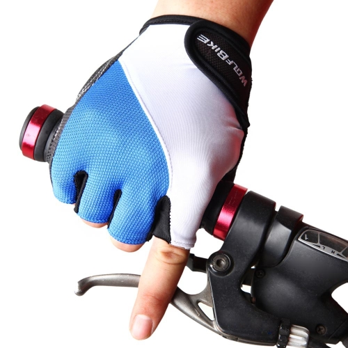 WOLFBIKE Non-slip Shock-absorbing Silicone GEL Road MTB Motorcycle Cycling Bike Bicycle Racing Riding Breathable Half Finger Gloves