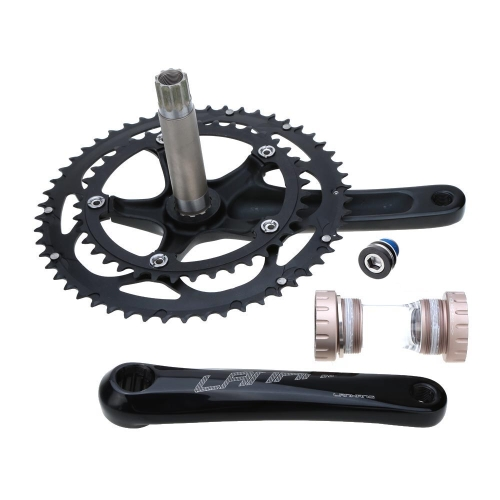 Road Bike Bicycle CNC Aluminum Alloy 39-53T Teeth Chainwheel Crank Crankset Sprocket AxleBike Accessories<br>Road Bike Bicycle CNC Aluminum Alloy 39-53T Teeth Chainwheel Crank Crankset Sprocket Axle<br><br>Blade Length: 30.0cm