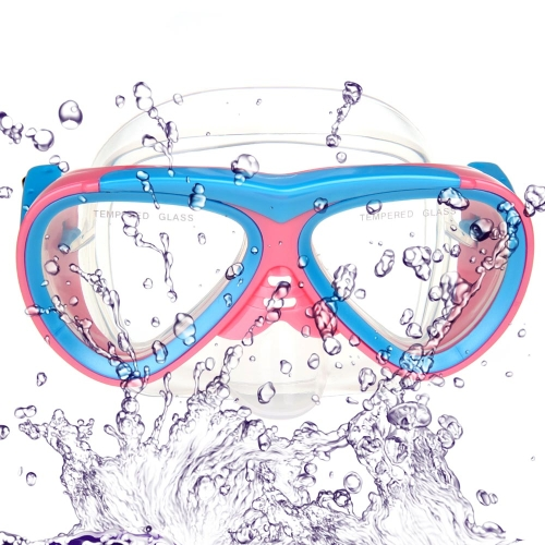 Children Kid Diving Mask Goggles Swimming Snorkeling Glass Equipment Toughened Tempered Glass