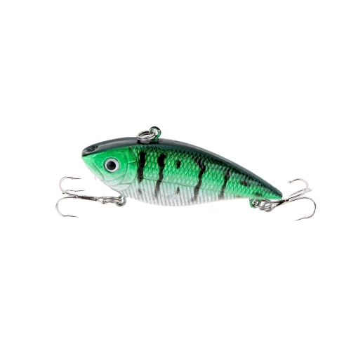 7cm 12g VIB Vibration Hard Bait with 2 Treble Hooks Perch Killer Fishing Lure Fishing Tackle Y1114-1