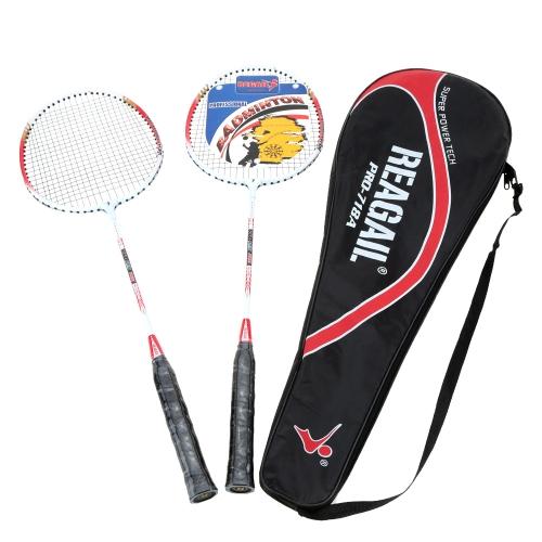 2Pcs Training Badminton Racket Racquet with Carry Bag Sport Equipment Durable Lightweight Aluminium AlloyTennis &amp; Others<br>2Pcs Training Badminton Racket Racquet with Carry Bag Sport Equipment Durable Lightweight Aluminium Alloy<br><br>Blade Length: 69.0cm