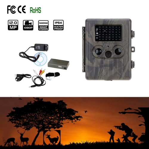12MP Trail Camera HT-002LI Portable Game Cameras Wildlife Scouting Camera Hunting Camera Video Recorder HD Digital Infrared IR LED Rain-proof Rechargeable Security Camera Y1255
