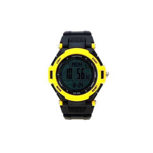 Men Women Multifunctional Watch Outdoor Sports Digital LED Wristwatch