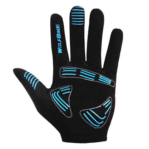 Wolfbike Men Women Bicycle Cycling Full Finger Gloves Y1351B-L