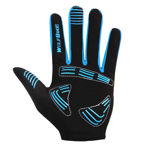 Wolfbike Men Women Bicycle Cycling Full Finger Gloves Y1351BL-M