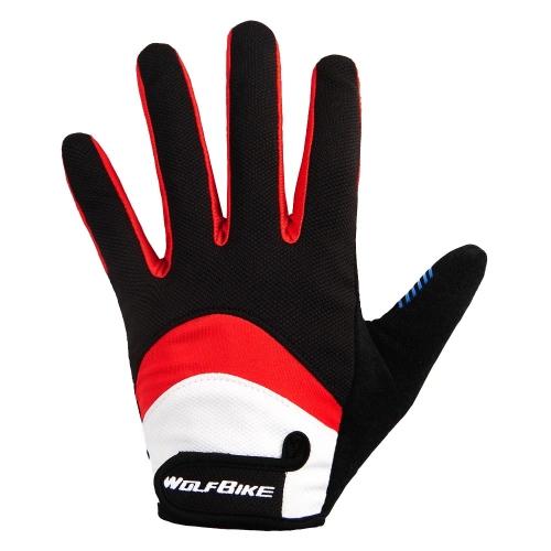Wolfbike Men Women Bicycle Cycling Full Finger Gloves