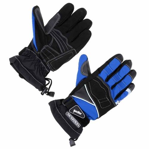 2Pcs Scoyco Winter Waterproof Windproof Thermal Motorcycle Racing Gloves Y1449BL-L