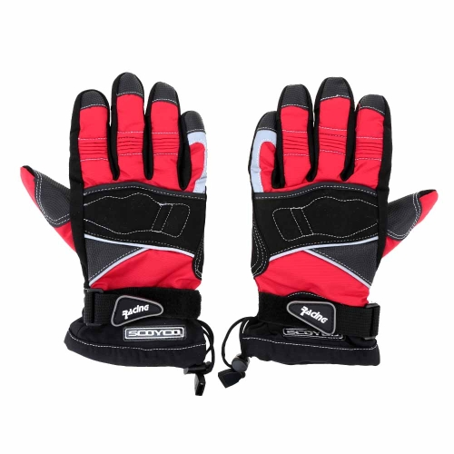 2Pcs Scoyco Winter Waterproof Windproof Thermal Motorcycle Racing Gloves Y1449R-M