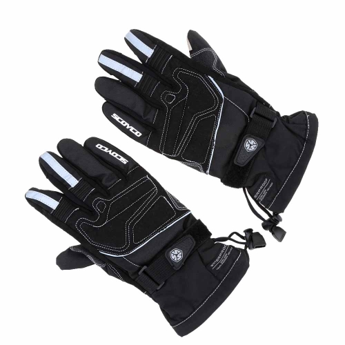 2Pcs Scoyco Screen Touch Winter Waterproof Windproof Thermal Motorcycle Racing Gloves Y1450B-2XL