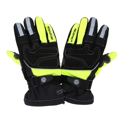 2Pcs Scoyco Screen Touch Winter Waterproof Windproof Thermal Motorcycle Racing Gloves