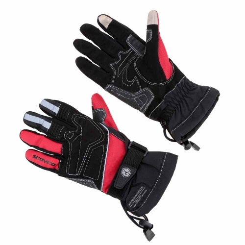 2Pcs Scoyco Screen Touch Winter Waterproof Windproof Thermal Motorcycle Racing Gloves Y1450R-L