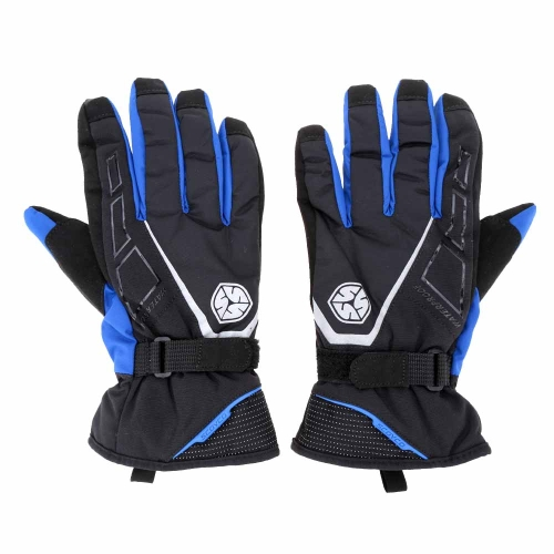 2Pcs Scoyco Long Cuff Winter Waterproof Windproof Thermal Motorcycle Racing Gloves Y1456BL-M