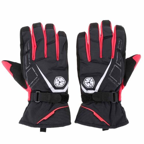 2Pcs Scoyco Long Cuff Winter Waterproof Windproof Thermal Motorcycle Racing Gloves Y1456R-M