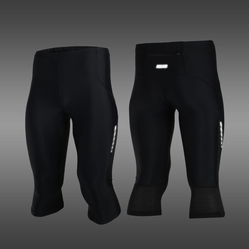 Buy ARSUXEO Stretch Breathable Quick-Drying Compression Shorts Men's Cycling Running Tights 3/4 Length Pants