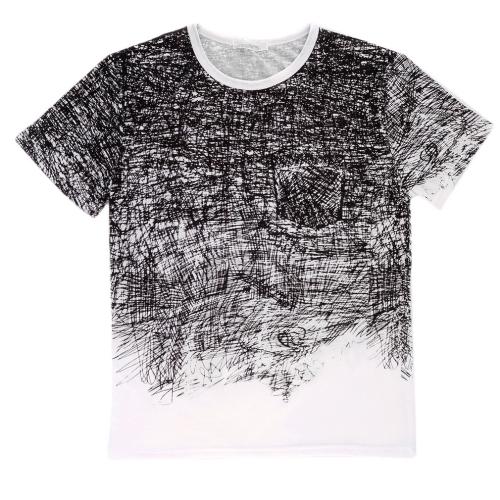 Buy Fashion Men's O-neck Print Design Short Sleeve Cotton T-shirt