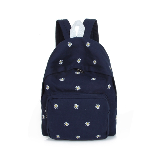 Buy Fashion Women Girls Backpack Floral Embroidery Sweet Candy Colors Student School Bag Rucksack