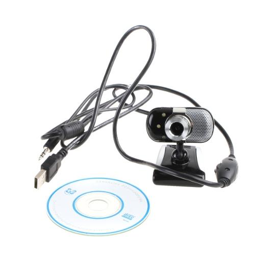Buy USB 2.0 30.0M 3 LED PC Camera HD Webcam Web Cam + MIC CD Computer Laptop