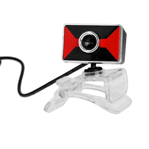 Buy USB2.0 Clip-on Webcam Camera HD 12 Megapixels Built-in Sound Absorption Microphone 360 Degree Rotating Stand Computer PC Laptop