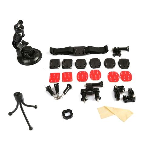 Dazzne KT-102 Bicycle Handlebar/Helmet Mount Mini Tripod 3M Adhesive Stickers Set Kit for GoPro Hero 3+ 3 2 D1143
